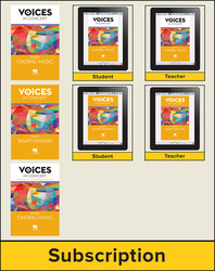 Hal Leonard Voices in Concert, Level 4 Mixed Digital Bundle, 1 Year