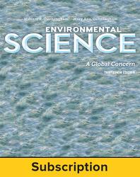 Cunningham, Environmental Science: A Global Concern © 2015 13e, Student AP advantage Digital Bundle (ONboard™(v2), Connect®, SCOREboard™(v2)), 1-year subscription