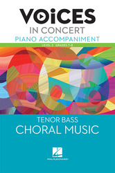 Hal Leonard Voices in Concert, Level 2 Tenor/Bass Piano Accompaniment Book