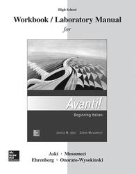Aski, Avanti!, Introductory Italian, 2018, 4e, Student Workbook