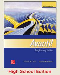 Aski, Avanti!, Introductory Italian © 2018, 4e, Student Edition