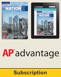 Brinkley, The Unfinished Nation: A Concise History of the American People © 2016 8e, Student AP Advantage Bundle (Student Edition with ONboard (v2), Connect, SCOREboard (v2)), 6-year subscription