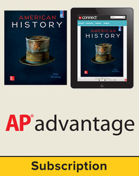 Brinkley American History: Connecting with the Past 2015, 15e Student AP Advantage Bundle, 6-year subscription (Student Edition with ONboard(v2) Connect Plus,  SCOREboard(v2)