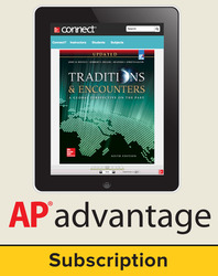 Bentley, Traditions & Encounters: A Global Perspective on the Past UPDATED AP Edition © 2017, 6e, AP advantage Digital Bundle (ONboard(v2), Connect, SCOREboard(v2)), 6-year subscription