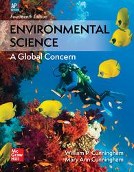 Cunningham, Environmental Science © 2018, 14e (AP Edition) Student Edition