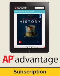 Brinkley, American History: Connecting with the Past UPDATED AP Edition © 2017, 15e, AP Advantage Digital Bundle (ONboard (v2), Connect, SCOREboard (v2)), 1-year subscription