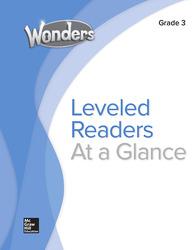 Wonders Balanced Literacy Leveled Reader Chart, Grade 3