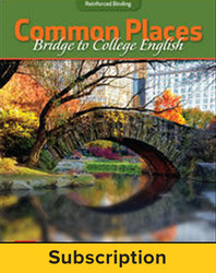 Hoeffner, Common Places: Bridge to College English: Digital Essentials © 2017, 1e, Connect®, 6-year subscription
