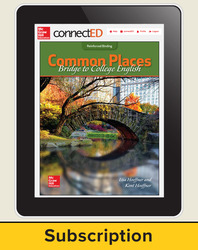 Hoeffner, Common Places: Bridge to College English © 2017, 1e, ConnectED eBook 1-year subscription