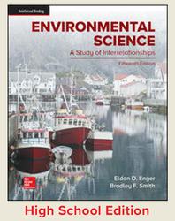 Enger, Environmental Science, 2019, 15e, Student Edition