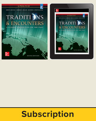 Bentley, Traditions & Encounters: A Global Perspective on the Past UPDATED AP Edition © 2017, 6e, AP Advantage Print and Digital bundle (Student Edition, ONboard, Online Student Edition, SCOREboard) 6-year subscription