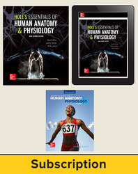 Shier, Hole's Essentials of Human Anatomy and Physiology, High School Ed, 2018, 1e, Premium Print Bundle, 6-year subscription