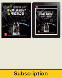Shier, Hole's Essentials of Human Anatomy and Physiology, High School Ed, 2018, 1e, Student Bundle, 1-year subscription
