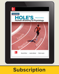 Shier, Hole's Human Anatomy & Physiology © 2019, 15e, Online Student Edition, 1-year subscription