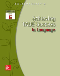 Achieving TABE Success In Language, Level E Workbook