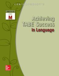 Achieving TABE Success In Language, Level M Workbook