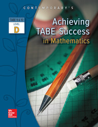 Achieving TABE Success In Mathematics, Level D Workbook