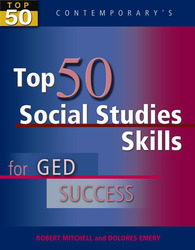 Top 50 Social Studies Skills for GED Success, Student Text Only