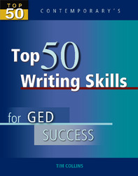 Top 50 Writing Skills for GED Success, Student Text Only