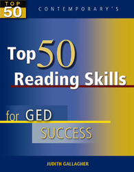 Top 50 Reading Skills for GED Success, Student Text Only
