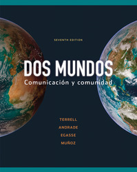 Workbook/Lab Manual Part B to accompany Dos mundos