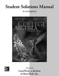 Student Solutions Manual  for College Algebra Essentials
