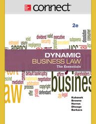 Connect 1-Semester Online Access for Kubasek Dynamic Business Law Essen 2e