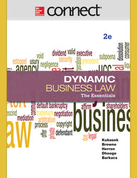 Connect 1-Semester Online Access for Kubasek Dynamic Business Law Essen 2e