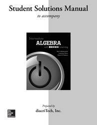 Student Solutions Manual for Intermediate Algebra With P.O.W.E.R. Learning