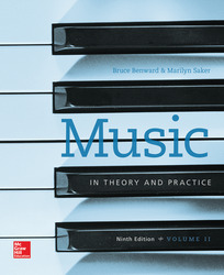 Workbook to accompany Music in Theory and Practice, Volume 2
