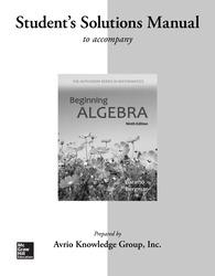 Student Solutions Manual for Beginning Algebra