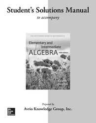 Student Solutions Manual for Elementary & Intermediate Algebra