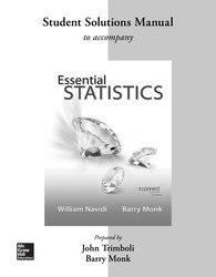 Student Solution Manual Essential Statistics