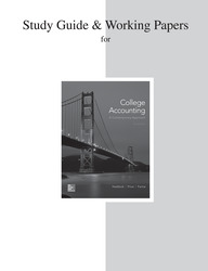 Study Guide and Working Papers for College Accounting (A Contemporary Approach)