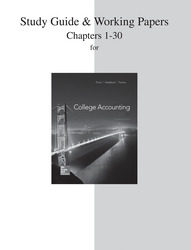 Study Guide and Working Papers for College Accounting (Chapters 1-30)