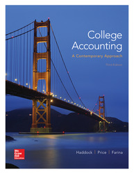 Loose Leaf Version for College Accounting (A Contemporary Approach)