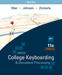 Ober: Kit 1: (Lessons 1-60) w/ Word 2013 Manual