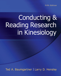 Conducting & Reading Research In Kinesiology
