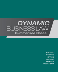 Dynamic Business Law:  Summarized Cases