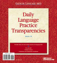 Writer's Choice © 2001, Grade 10, Daily Language Practice Transparencies