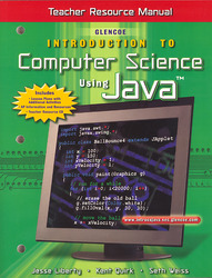 Introduction To Computer Science Using Java, Teacher Resource Manual