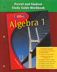 Algebra 1, Parent and Student Study Guide Workbook