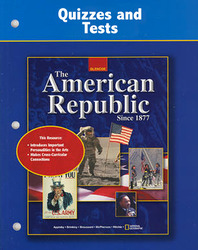 American Republic Since 1877, Quizzes and Tests