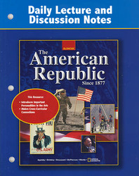 American Republic to 1877, Daily Lecture and Discussion Notes
