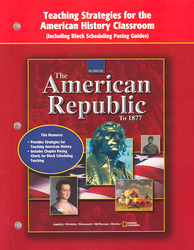 American Republic to 1877, Teaching Strategies for the American History Classroom