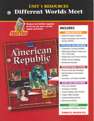 American Republic to 1877, Unit 1 Resources