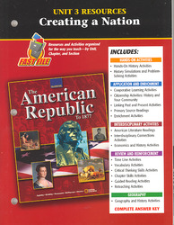 American Republic to 1877, Unit 3 Resources