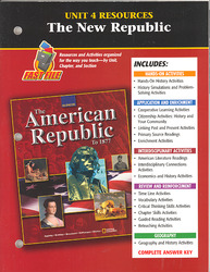 American Republic to 1877, Unit 4 Resources