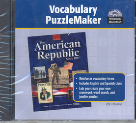 American Republic Since 1877, Vocabulary PuzzleMaker
