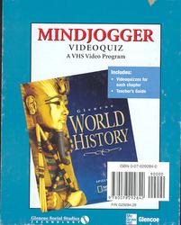 Glencoe World History, MindJogger Videoquiz VHS